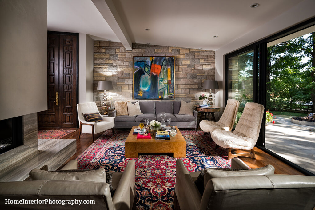 Stone Living Room - Nathan Taylor - design interior photography