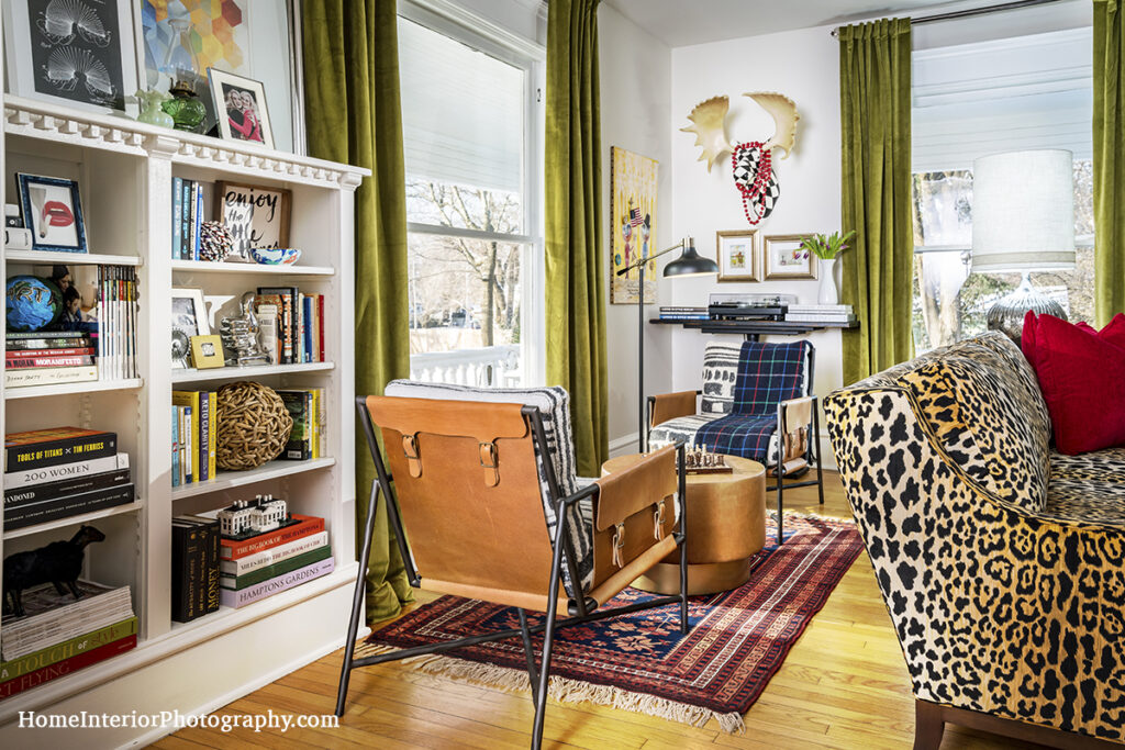 Leather and Leopard Skin Library - Nathan Taylor - design interior photography