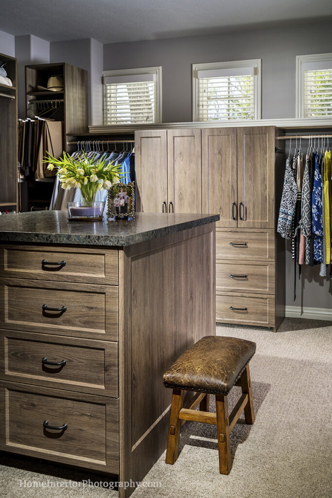 Spacious Wood and Gray Closet - Nathan Taylor - design interior photography