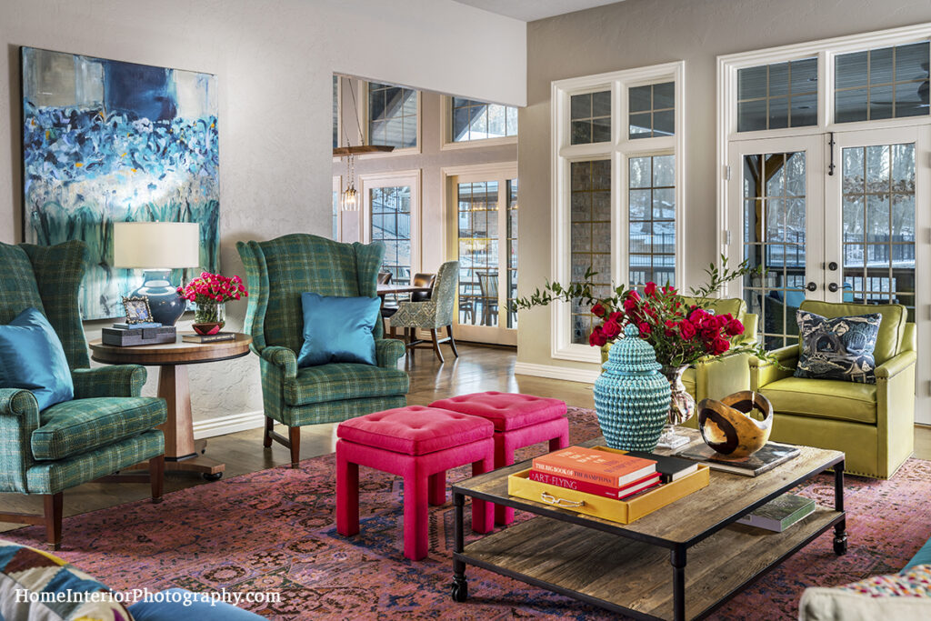 Colorfully Furnished Living Room - Nathan Taylor - design interior photography