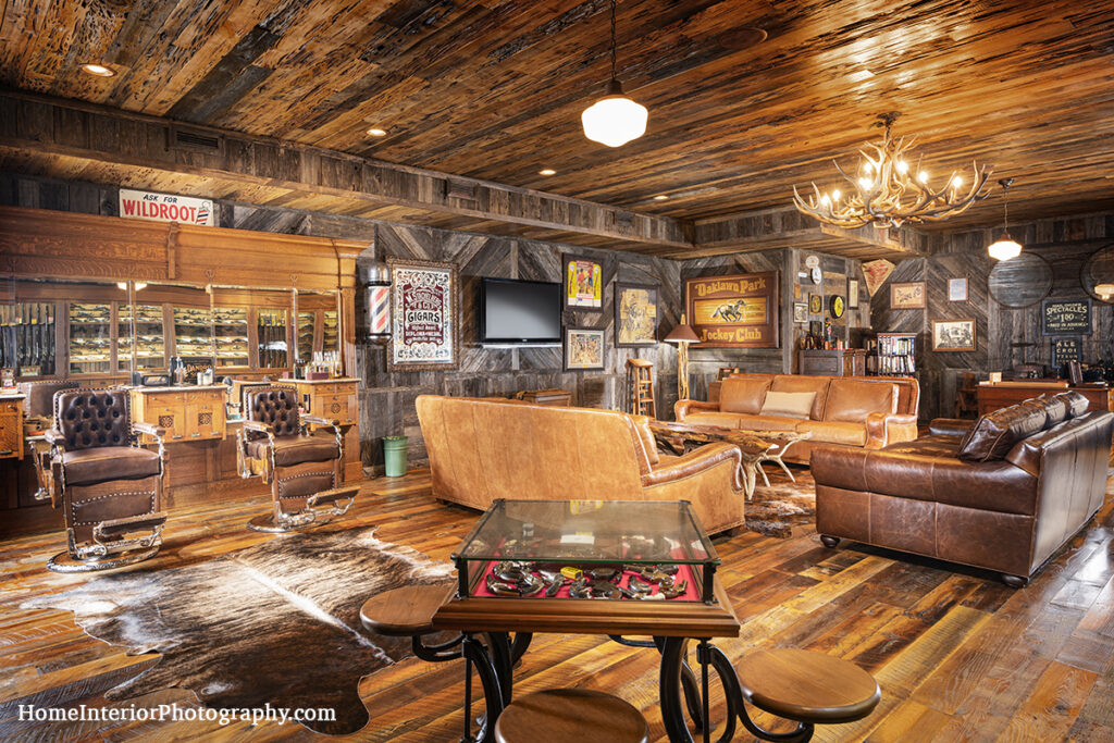 Log Cabin Man Cave - Judie Summers - design interior photography