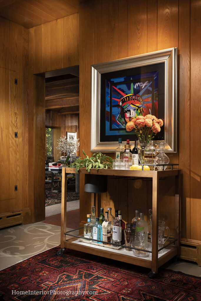 Mid Century Modern Mini Bar - Nathan Taylor - design interior photography
