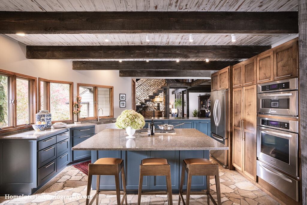Wood and Blue Kitchen - Nathan Taylor - design interior photography