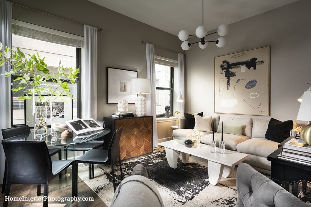 Clean Loft Living Room - Colby Kern - design interior photography