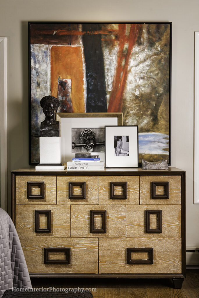 Wood Dresser with Art - Nathan Taylor - design interior photography