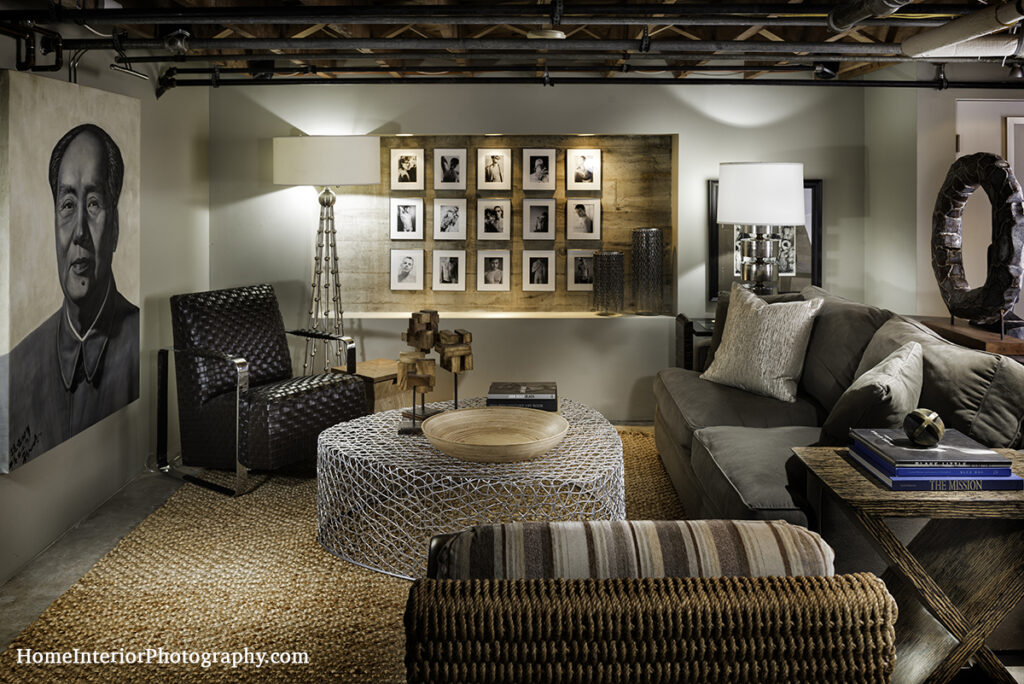 Industrial Basement Lounge Room - Nathan Taylor - design interior photography
