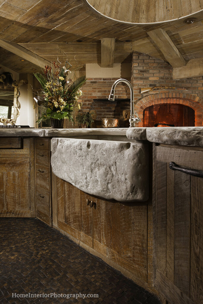 Rustic Stone Basin Sink - design interior photography