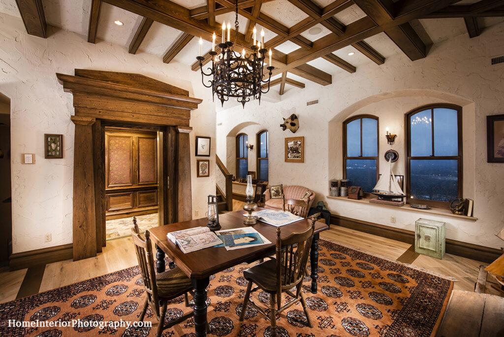 Map Room at Dromborg Castle - design interior photography