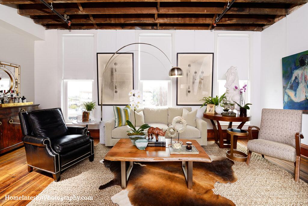 Modern Industrial Loft Living Room - Nathan Taylor - design interior photography
