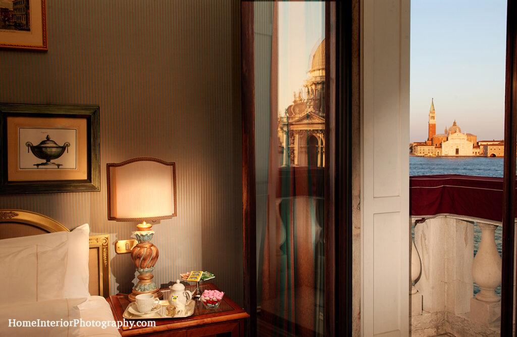 Venice Hotel Room - Venetian lagoon view - design interior photography