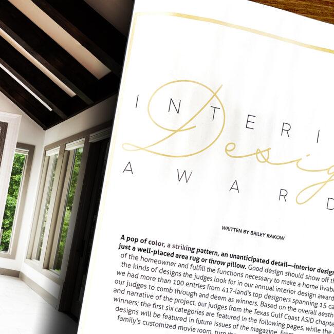 Photography for Interior Design Awards Cover Photo