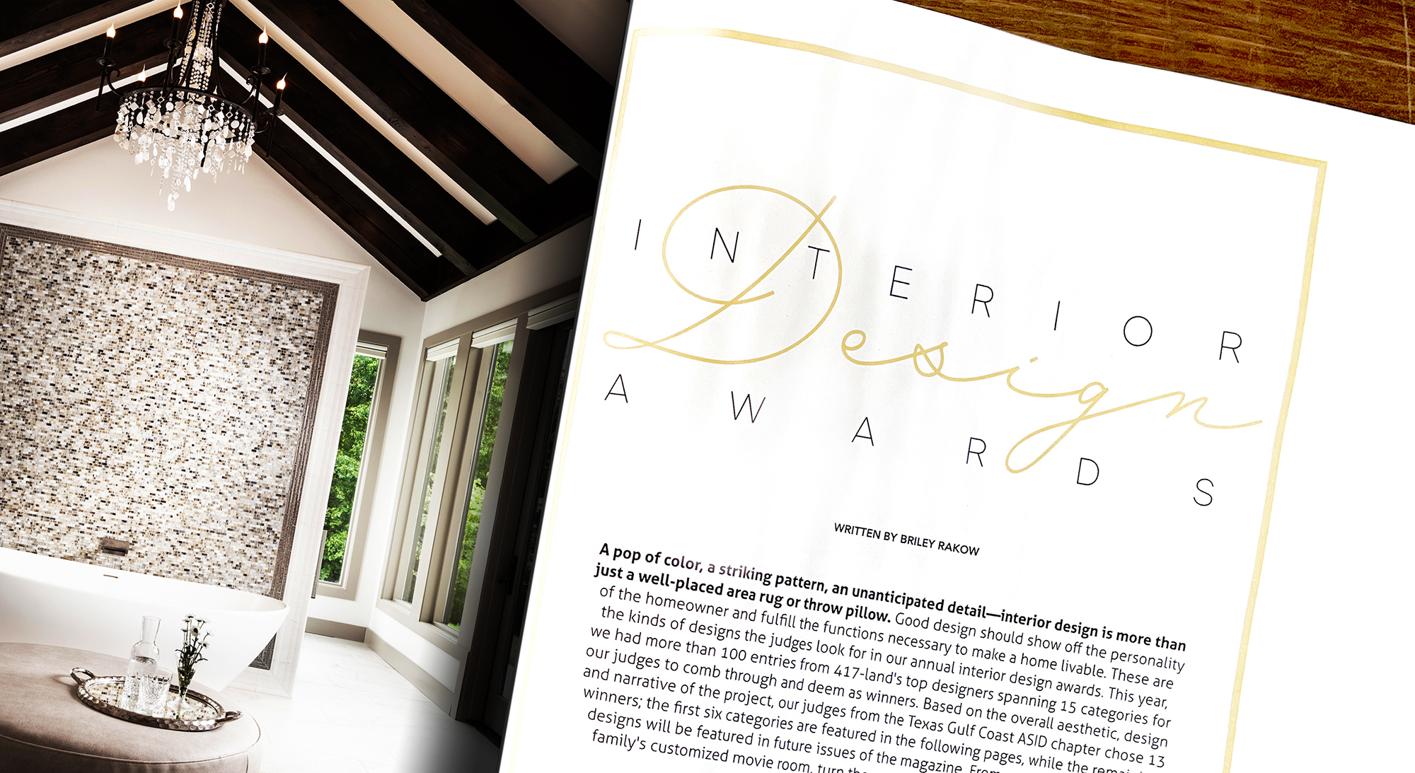 Photography for Interior Design Awards Cover Photo