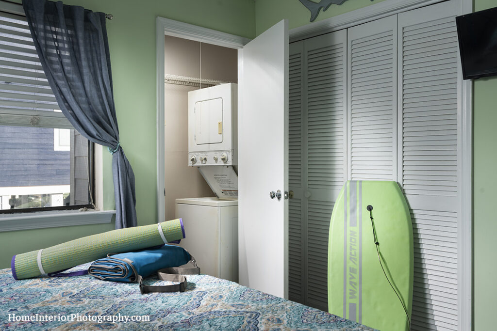 photographers in Wilmington NC bedroom and washing machine